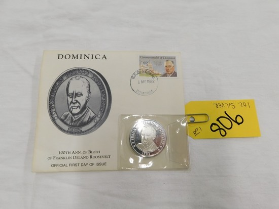 100TH ANNIVERSARY OF FDR 1 OZ SILVER COIN
