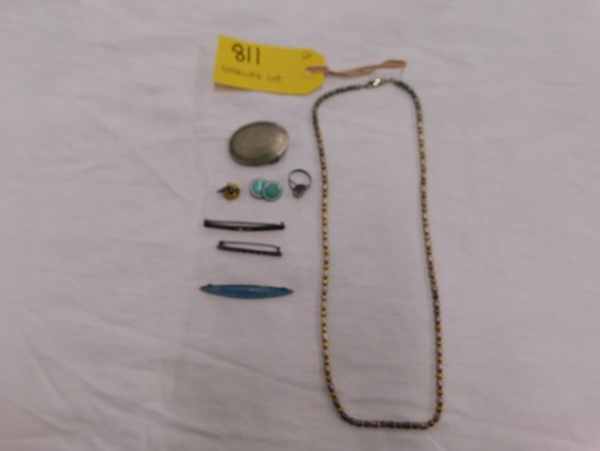 LOT STERLING SILVER JEWELRY