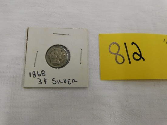 1868 3 CENT SILVER