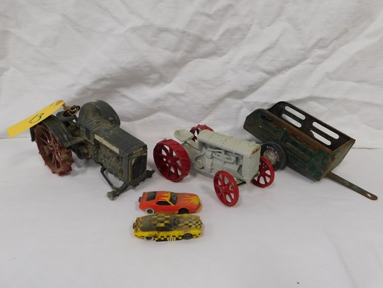 FLAT OF 1/16 FARM TRACTORS & OTHER TOYS