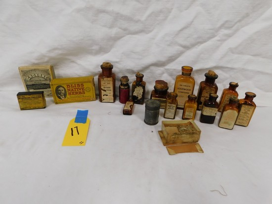 FLAT OF BROWN MEDICINE BOTTLES