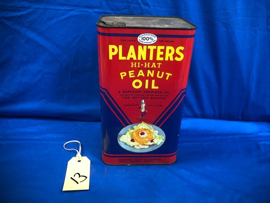 PLANTERS HI-HAT PEANUT OIL ONE GALLON CAN