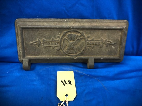 CAST IRON TRADE MARK TOOL BOX LID