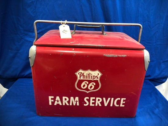 VINTAGE PHILLIPS 66 FARM SERVICE COOLER