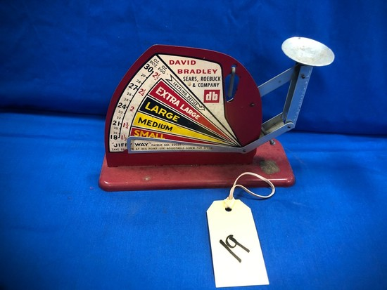 """JIFFY WAY"" DAVID BRADLEY SEARS ROEBUCK & CO. EGG SCALE"