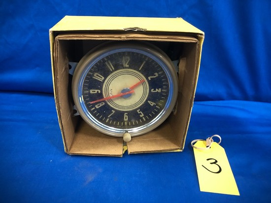 VINTAGE CHEVY ELECTRIC PANEL CLOCK