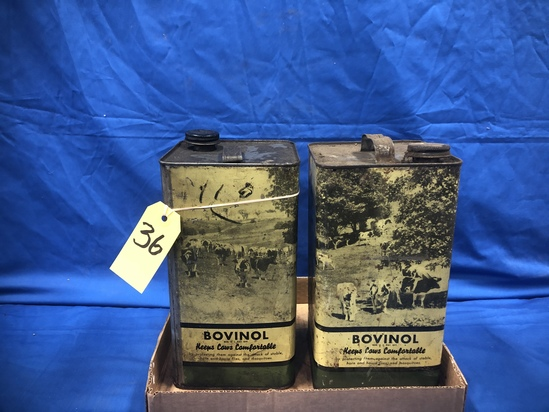 (2) ONE GAL CANS OF BOVINOL CATTLE OIL - BOTH ARE FULL