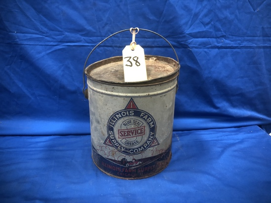 10# ILLINOID FARM SUPPLY COMPANY BLUE SEAL GREASE BUCKET