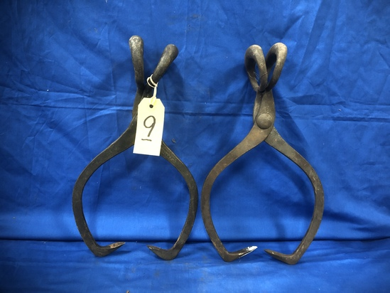 GIFFORD WOOD CO & WM T WOOD CO ICE TONGS