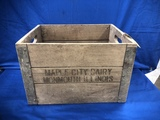 MAPLE CITY DAIRY MONMOUTH ILLINOIS WOOD CRATE