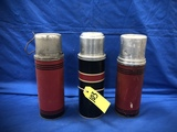 (3) VINTAGE THERMOS BOTTLES