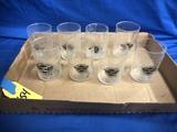 (8) STEAK & SHAKE SMALL WATER GLASSES