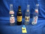 VARIOUS SODA POP BOTTLES