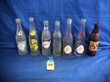 FLAT OF VARIOUS SODA POP BOTTLES