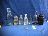 FLAT OF ASSORTED OLD BOTTLES