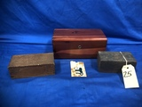 (3) VINTAGE WOOD BOXES - ONE MARKED WEHNER'S ALEDO, IL