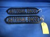(2) NATIONAL SM CO CAST IRON GRATES