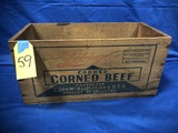 LIBBY'S COOKED CORNED MEEF WOOD BOX