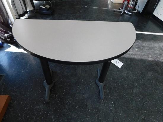 "27"" X 23"" HALF CIRCLE TABLE"