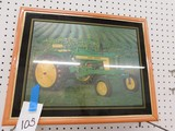 FRAMED PHOTO OF A JOHN DEERE 520 TRACTOR