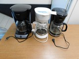(3) VARIOUS COFFEE MAKERS