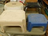 BULK LOT OF VARIOUS STEP STOOLS
