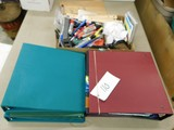 BULK LOT OF 3 RING BINDERS & OTHER OFFICE SUPPLIES
