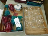 BULK LOT OF PLASTIC & GLASS WINE GLASSES