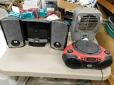LAKEWOOD ELECTRIC SPACE HEATER, BOOM BOX & RADIO