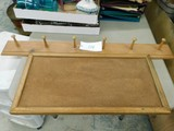 WOOD WALL MOUNTED COAT RACK & CORK BOARD
