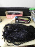 (2) PAUL MITCHELL EXPRESS ION CRIMPING IRONS & A BLACK WIG