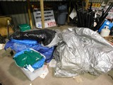 BULK LOT OF VARIOUS PLASTIC TARPS & DROP CLOTH