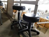 PAIR OF ROLL AROUND HYDRAULIC STOOLS