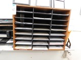 24 COMPARTMENT TABLE TOP DOCUMENT FILE & (5) PLASTIC DESK FILES