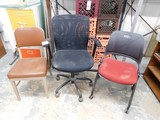 (3) VARIOUS STYLE OFFICE CHAIRS