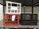 (14) VARIOUS  SIZE & SHAPED MILK STYLE CRATES