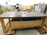 4FT X 8FT HEAVY DUTY WOOD TABLE / WORK BENCH
