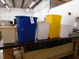LOT OF VARIOUS TRASH CANS