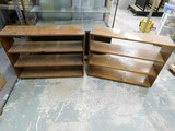 (2) 3FT PINE BOOK SHELVES - 27
