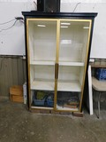 LARGE 2 DOOR GLASS FRONT DISPLAY CABINET