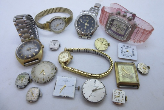 16 WATCH LOT: OMEGA HAMILTON BULOVA GENEVE GRUEN