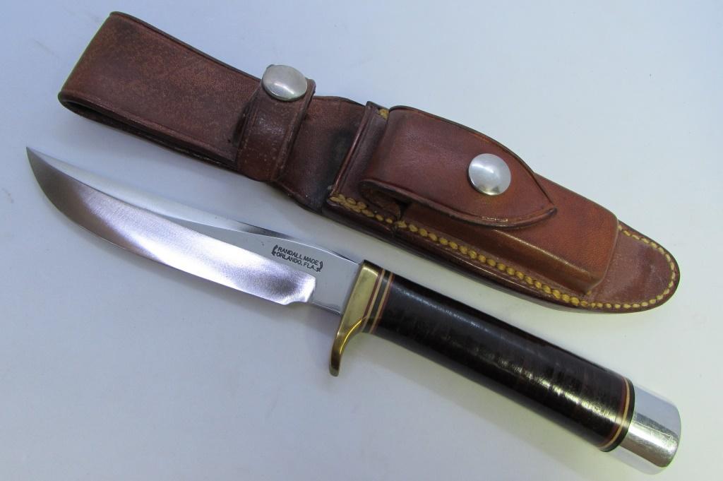 RANDALL #7-4 KNIFE & ORIGINAL LEATHER SHEATH