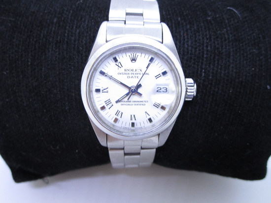 LADIES ROLEX WATCH DATE OYSTER WRISTWATCH