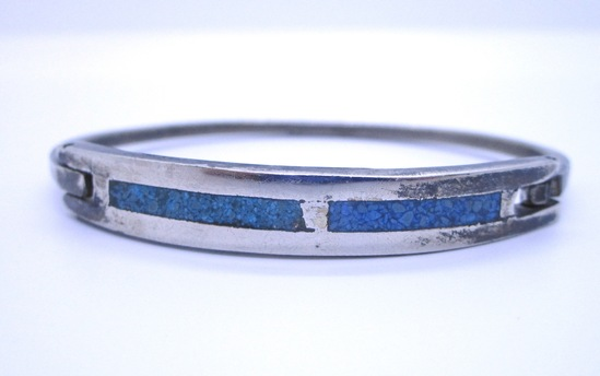 VINTAGE ESTATE BANGLE BRACELET STERLING SILVER