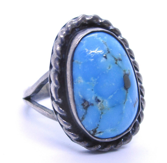RN NIETO TURQUOISE RING STERLING SILVER