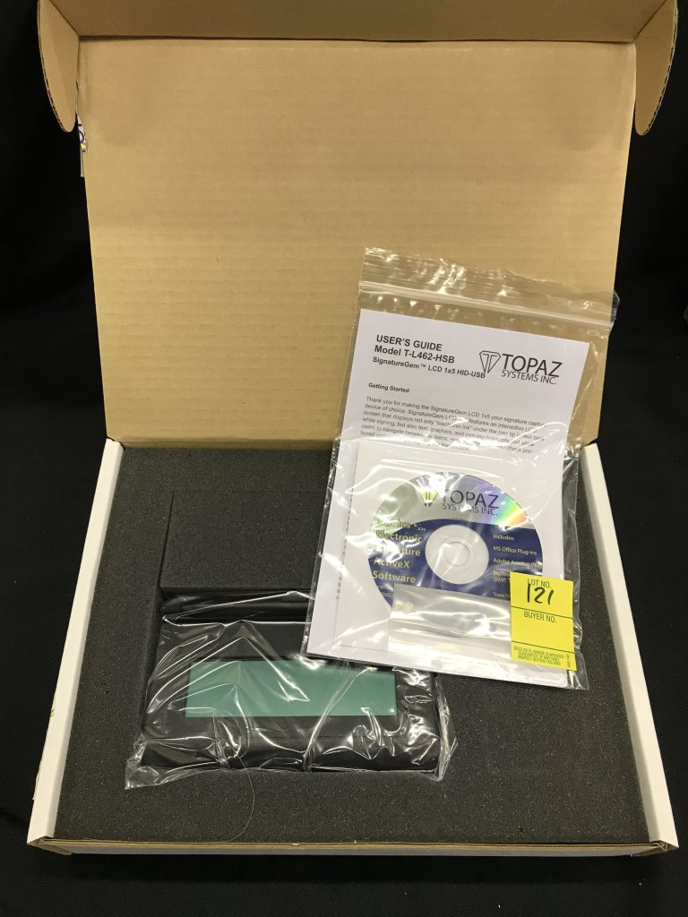 Lot: Topaz Systems Inc Signature Capture Pad | Proxibid Auctions