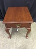 Virginia Galleries Black Cherry End Table W/Queen Anne Feet
