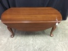 Virginia Galleries Black Cherry Drop Leaf Coffee Table W/Queen Anne Feet