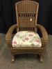Wicker Rocker W/Upholstered Seat