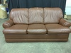 Flexsteel Leather 3-Cushion Couch